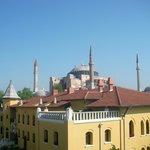 Blick von der Terasse Zi 41 zur Hagia Sofia