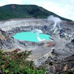 one of the craters form the Poas Volcano