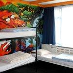 Dorm Room of The Flying Pig Beach Hostel