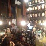 yakitori BBQ area with bar