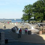 Waterfront park across the street from hotel