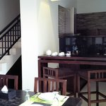 Fully Kitchenette with staircase to the room