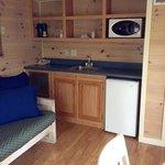 Small basic kitchen area