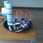 Complimentary hot chocolate & truffles