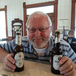 Werner with his German beers