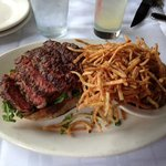 Steak Sandwich & shoestring fries