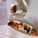 Une délicatesse de mignardises au café