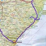 Mooie route met Durban als start.