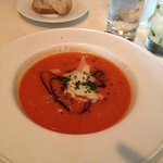 My appetizer -- cold tomato soup