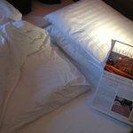 schlampig gemachtes Bett