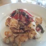 Squid with roasted peppers
