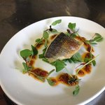 grilled sea bass tomato and garlic dressing