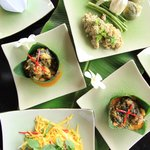 khmer food being offered at Champa Cafe