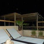 terrasse en soirée