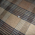 Hole in upholstery, slimy fabric