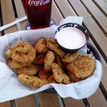 Deep fried pickles. Really really good