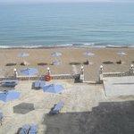 vue de la terrasse et de la plage