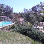 la même vue de la piscine