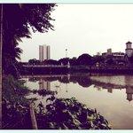 Vue du jardin sur la rivière