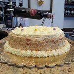 Mimosa cake by Fortunato's chef