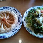 Hummus & side salad