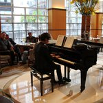 live piano music in the lobby