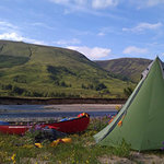 Canoe and camp