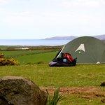 Campsite and coast