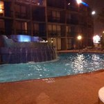 Swimming at night was nice