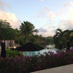 Main pool at dusk