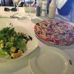 Tony's pizza & haloumi salad