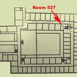 Hotel 2nd floor map showing location of compact room #257