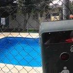 Panorámica de la zona de la piscina