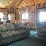 Living area in luxury unit