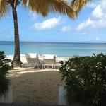 From the steps of our beach suite