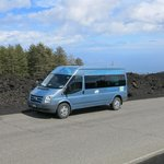 "The ""Alfie mobile""  on Mt Etna."