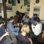 Pub in Galway with Irish musicians