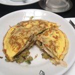 Special omelette made by Ananda to accommodate dietary needs
