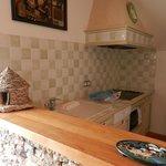 Gîte Basilou Hôtel le Troubadour à Rocamadour, la cuisine