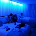 super chic blue light ambience!