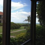 Large screened in porch (pic does not do its size justice) taken to show the view of beach