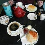Wonderful tea and scones.