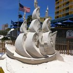 Sand Sculpture On Treasure Island