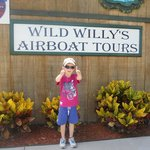 lewis ready for his airboat ride
