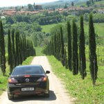 nice road from the villa