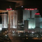 Night view of the casinos from our room