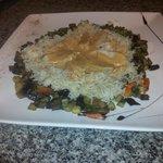 émincé de poulet légumes frais et son riz