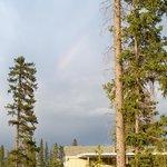 Rainbow over the camp