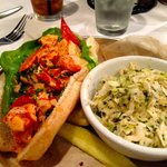 Warm Lobster Roll and Slaw