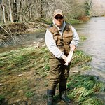 Fly fishing with Larry